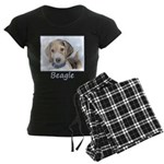 Beagle Women's Dark Pajamas