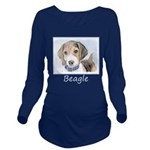 Beagle Long Sleeve Maternity T-Shirt