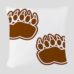 Bear Paw Prints Woven Throw Pillow