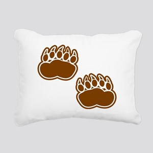 Bear Paw Prints Rectangular Canvas Pillow