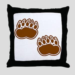 Bear Paw Prints Throw Pillow
