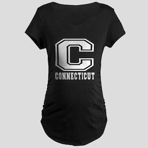 Connecticut State Designs Maternity Dark T-Shirt