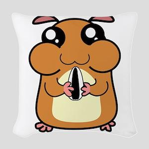 Cartoon Hamster Woven Throw Pillow