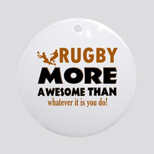 Awesome rugby designs Ornament (Round)