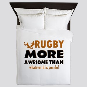 Awesome rugby designs Queen Duvet