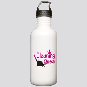 Pink cleaning queen with feather duster Sports Wat