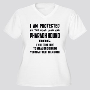 I am protected by Women's Plus Size V-Neck T-Shirt