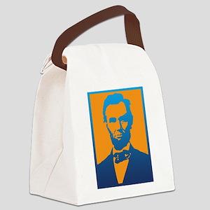 Abraham Lincoln Pop Art Canvas Lunch Bag