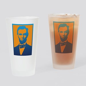 Abraham Lincoln Pop Art Drinking Glass