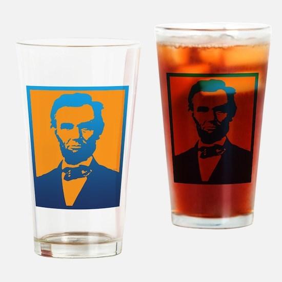 Abraham Lincoln Pop Art Drinking Glass