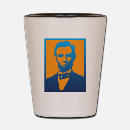 Abraham Lincoln Pop Art Shot Glass