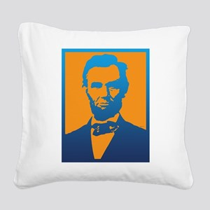 Abraham Lincoln Pop Art Square Canvas Pillow