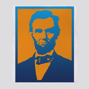 Abraham Lincoln Pop Art Throw Blanket