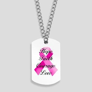 Pink Ribbon Dog Tags
