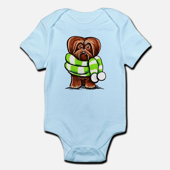Chocolate Havanese Scarf Infant Bodysuit