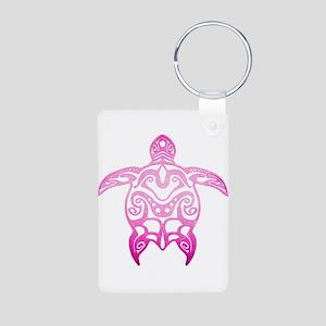 Pink Tribal Turtle Keychains