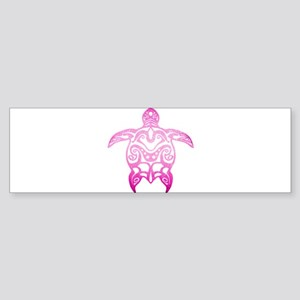 Pink Tribal Turtle Bumper Sticker