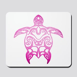 Pink Tribal Turtle Mousepad