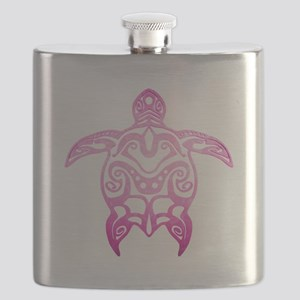 Pink Tribal Turtle Flask