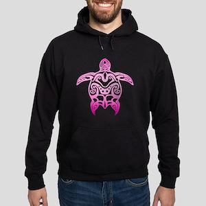 Pink Tribal Turtle Hoodie