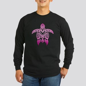 Pink Tribal Turtle Long Sleeve T-Shirt