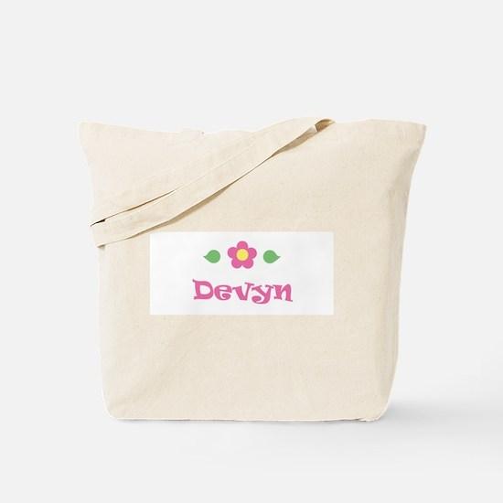 """Pink Daisy - """"Devyn"""" Tote Bag"""
