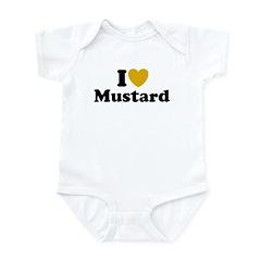 I Love Mustard Infant Bodysuit