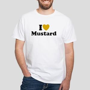 I Love Mustard White T-Shirt