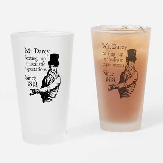 Funny Pride and prejudice Drinking Glass
