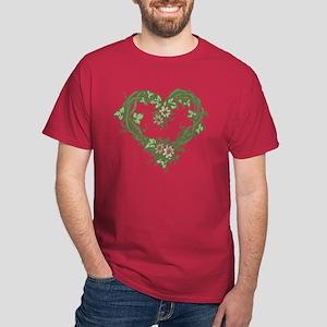 Rose Heart Wreath Dark T-Shirt