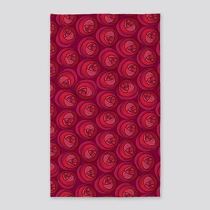 Mackintosh Roses Art Nouveau 3'x5' Area Rug