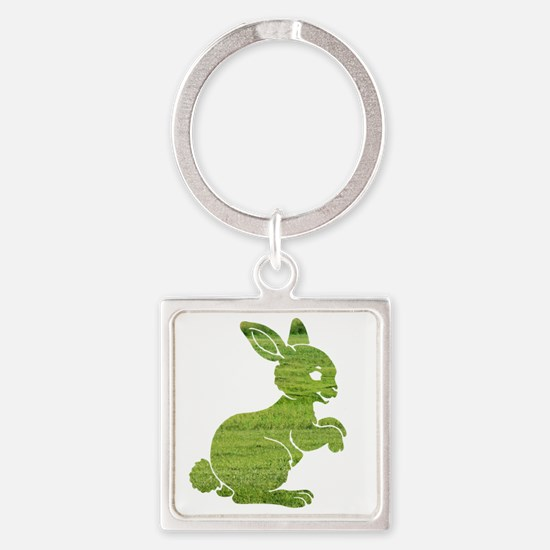 Easter bunny rabbit on the grass S Square Keychain