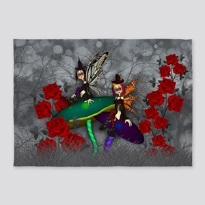 Gothic Rock Fairy Fantasy Art 5'x7'Area Rug