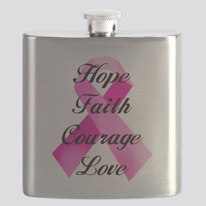 Pink Ribbon Flask