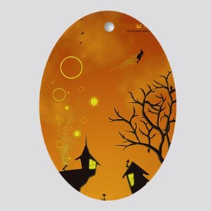 Halloween Tricks n Treats Oval Ornament