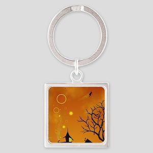 Halloween Tricks n Treats Square Keychain
