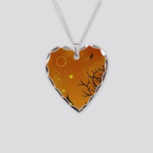 Halloween Tricks n Treats Necklace Heart Charm