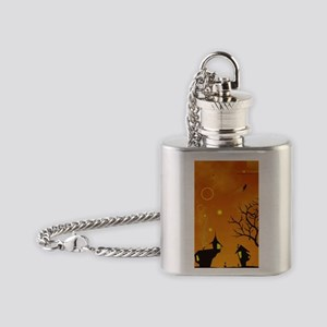 Halloween Tricks n Treats Flask Necklace