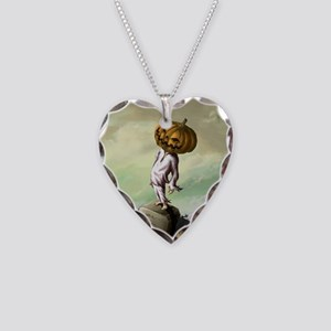A M Pie Halloween Necklace Heart Charm