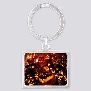 Many Faces Halloween Landscape Keychain