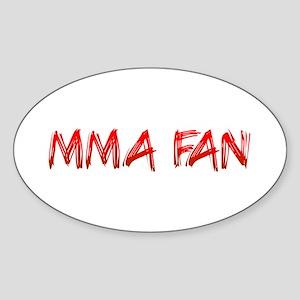 MMA Fan Oval Sticker