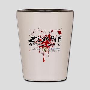 Virtual Zombie Walk for St. Baldrick's Shot Glass
