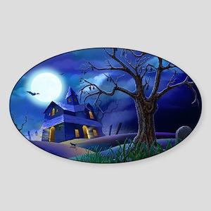 A Halloween Christmas Sticker (Oval)
