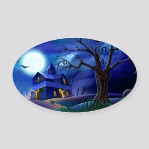 A Halloween Christmas Oval Car Magnet