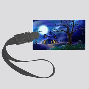 A Halloween Christmas Large Luggage Tag