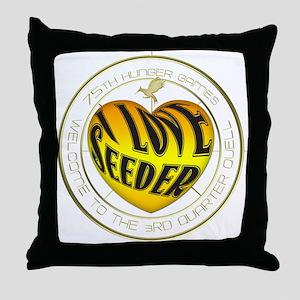 I Love Seeder Heart Throw Pillow