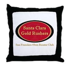 Gold Rusher Logo Throw Pillow
