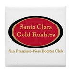 Gold Rusher Logo Tile Coaster