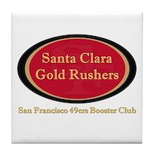 Gold Rusher Logo Tile Coaster