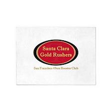 Gold Rusher Logo 5'x7'Area Rug